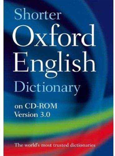 9780199231768 image Shorter Oxford English Dictionary
