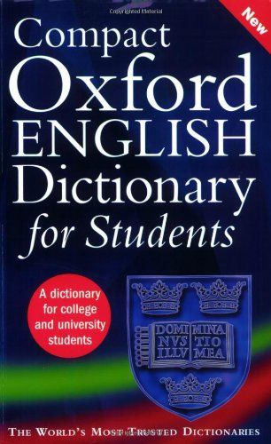 9780199296255 image Compact Oxford English Dictionary for University and College Students