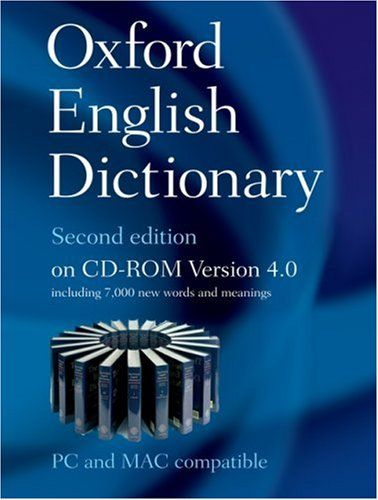 9780199563838 image Oxford English Dictionary Second Edition on CD-ROM Version 4.0