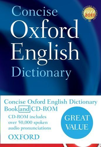 9780199601103 image Concise Oxford English Dictionary