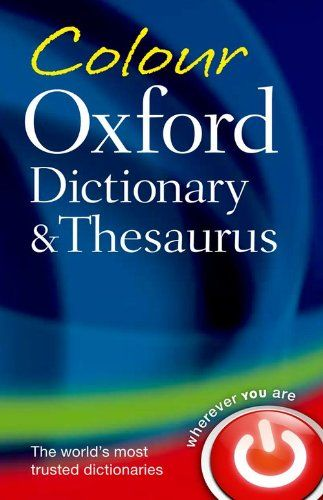9780199607938 image Colour Oxford Dictionary & Thesaurus
