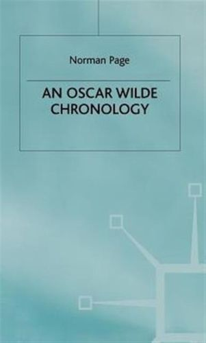 Oscar Wilde Chronology