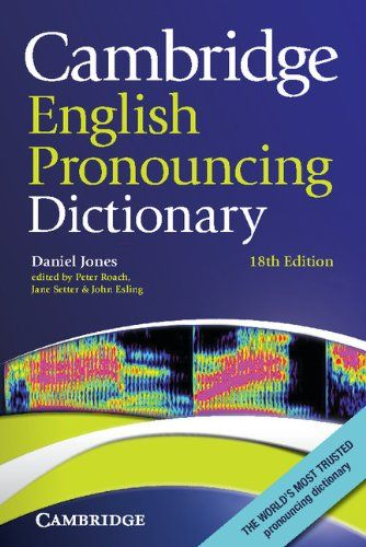 9780521152532 image Cambridge English Pronouncing Dictionary