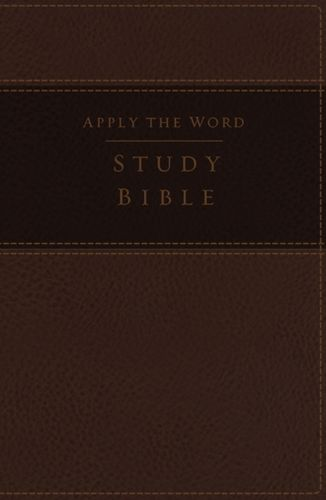 NKJV, Apply the Word Study Bible, Large Print, Leathersoft, Brown, Red Letter Edition