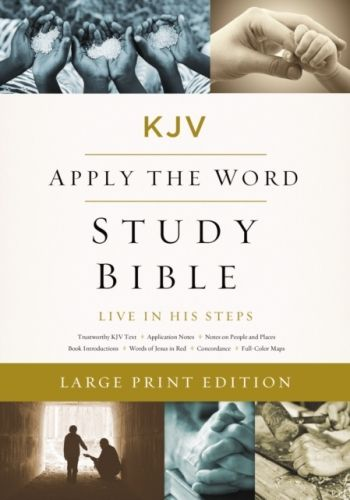 KJV, Apply the Word Study Bible, Large Print, Hardcover, Red Letter Edition