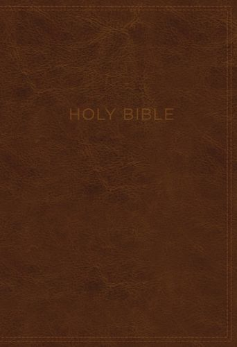 KJV, Know The Word Study Bible, Leathersoft, Brown, Indexed, Red Letter Edition