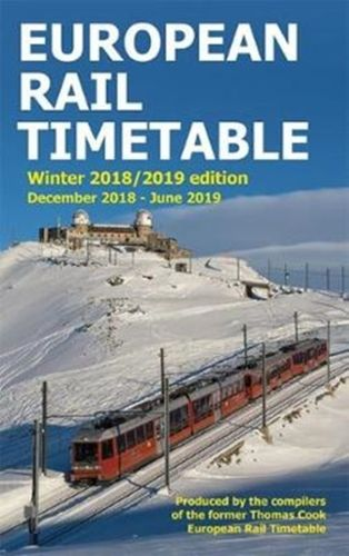 9780995799844 image European Rail Timetable Winter 2018-2019 Edition