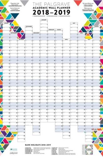 Palgrave Academic Wall Planner 2018-19