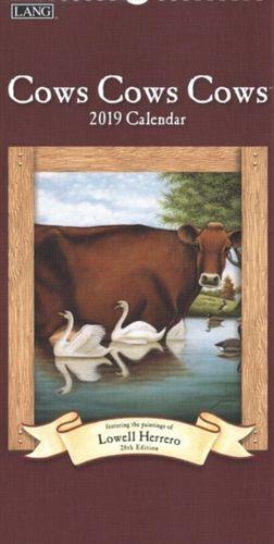 Cows Cows Cows 2019 Vertical Deluxe Wall Calendar