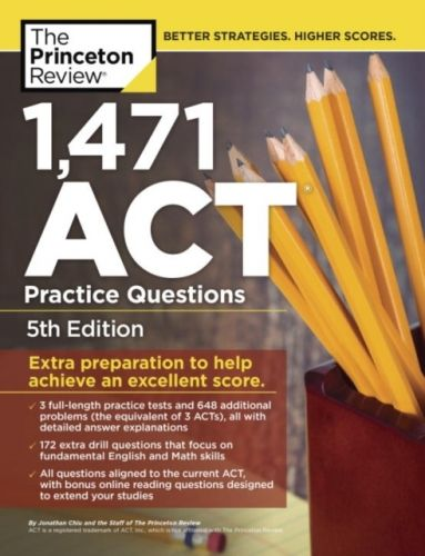 9781524710668 image 1,460 Act Practice Questions