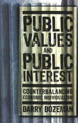 9781589011779 image Public Values and Public Interest