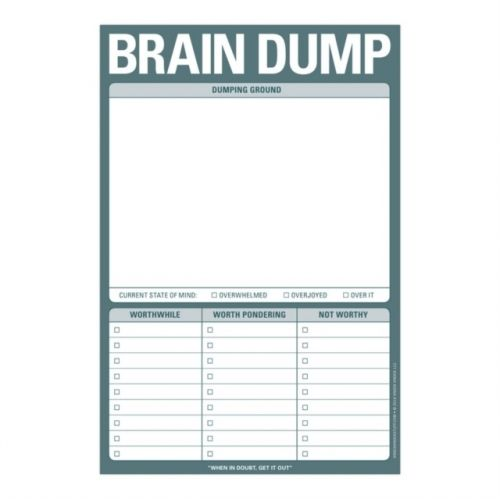 Knock Knock Brain Dump Pad