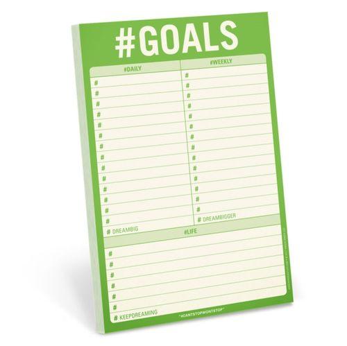Knock Knock #Goals Pad