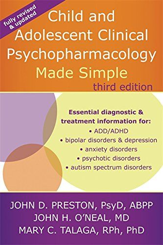 9781626251915 image Child and Adolescent Clinical Psychopharmacology Made Simple, 3rd Edition