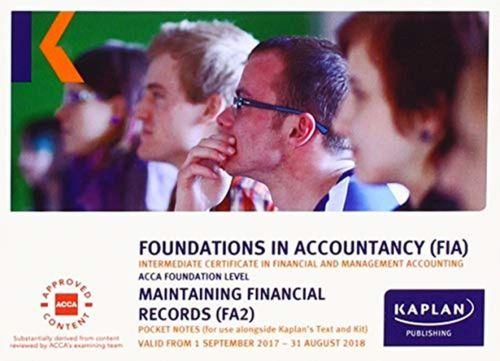 FA2 Maintaining Financial Records - Pocket Notes