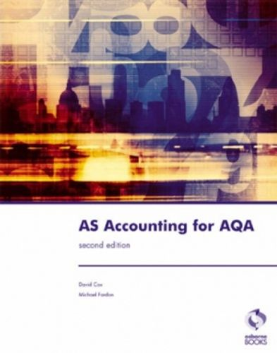 9781905777143 image AS Accounting for AQA
