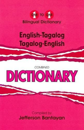 English-Tagalog & Tagalog-English One-to-One Dictionary