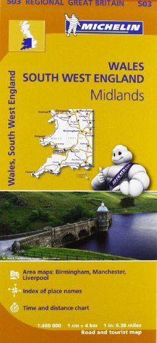 Wales - Michelin Regional Map 503