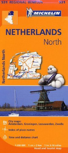 9782067183377 image Netherlands North - Michelin Regional Map 531