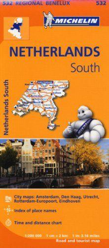 Netherlands South - Michelin Regional Map 532