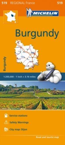 Burgundy - Michelin Regional Map 519